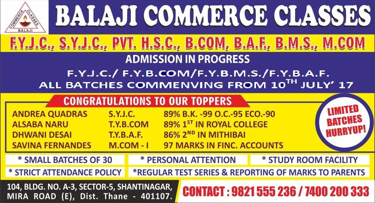 Balaji Commerce Classes Miraroad East